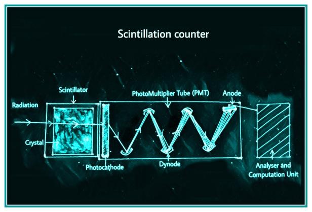 Scintillation counter radioactivity radiation